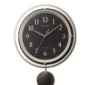 【3セット】 リズム時計 電波掛け時計 茶色 8MX404SR06 [8MX404SR06] お取り寄せ[10000円キャッシュバック]