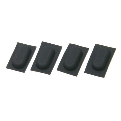 電子機器用 ゴム足 長丸型 粘着シール付き (4個セット) 13mm x 6mm 高さ3mm|techspace