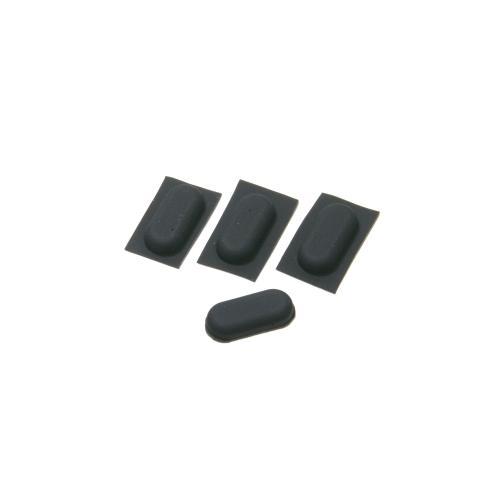 電子機器用 ゴム足 長丸型 粘着シール付き (4個セット) 13mm x 6mm 高さ3mm|techspace|03