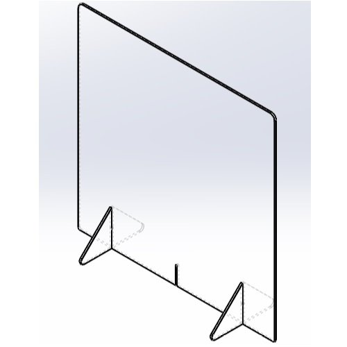 飛沫防止パーテーション600(窓なし) 5mm techtbaco 06