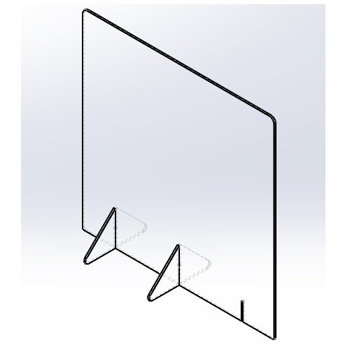 飛沫防止パーテーション600(窓なし) 5mm techtbaco 07
