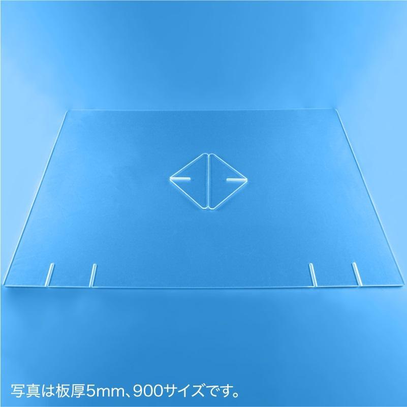 飛沫防止パーテーション900(窓なし) 5mm|techtbaco|05