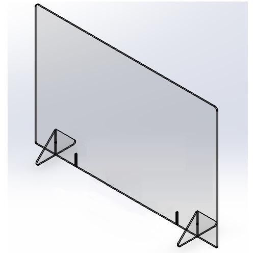 飛沫防止パーテーション900(窓なし) 5mm|techtbaco|06