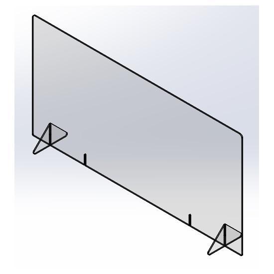 飛沫防止パーテーション1200(窓なし) 5mm|techtbaco|06