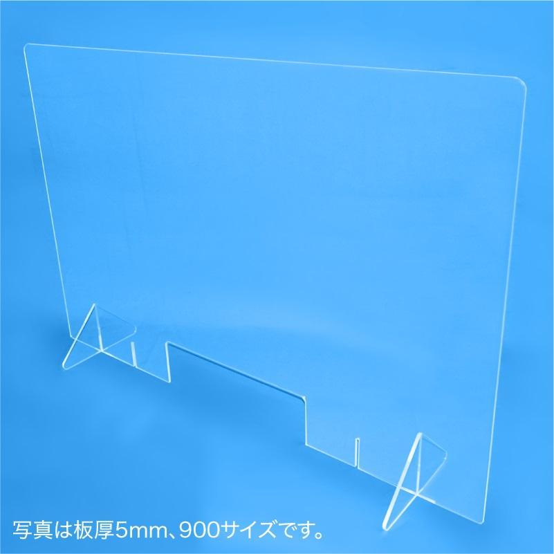 飛沫防止パーテーション600(窓あり) 5mm techtbaco 04