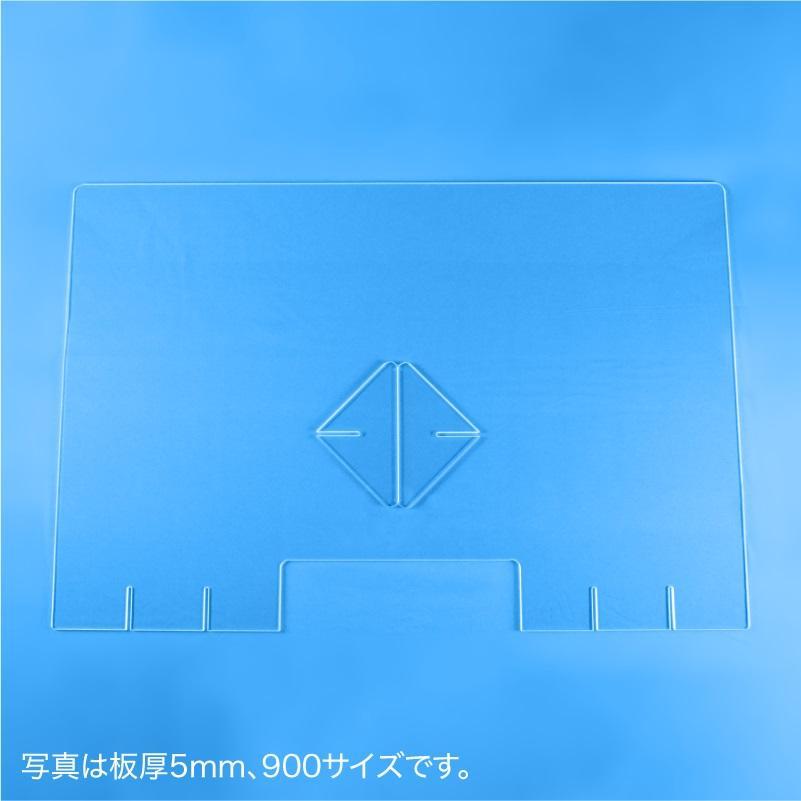 飛沫防止パーテーション600(窓あり) 5mm techtbaco 05