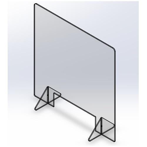 飛沫防止パーテーション600(窓あり) 5mm techtbaco 06