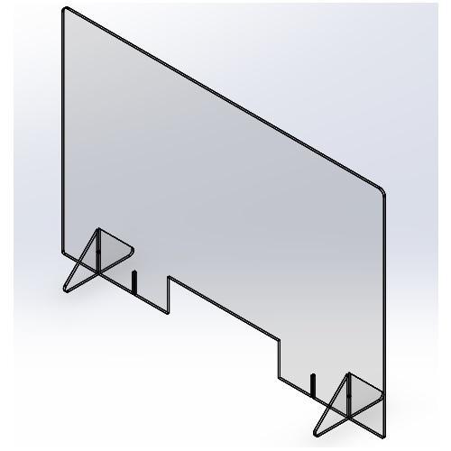 飛沫防止パーテーション1200(窓あり) 5mm|techtbaco|06