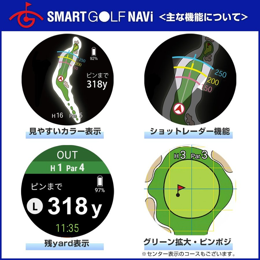 【GPS ゴルフナビ】 腕時計 スマートウォッチ Aiキャディ スマートゴルフナビ  (TicwatchS2 ブラック) tecraft-yshop 04