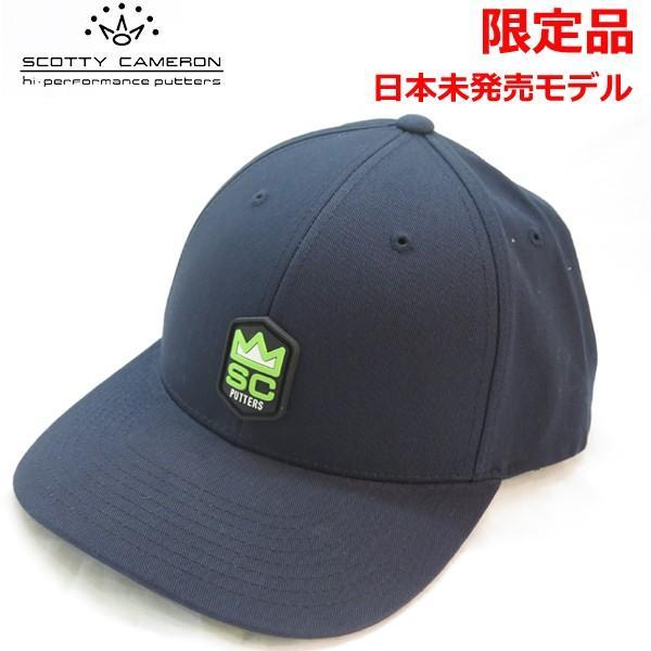 【限定品】スコッティ キャメロン クラウン ラバーパッチ スナップバックキャップ ネイビー 日本未発売モデル ゴルフキャップ
