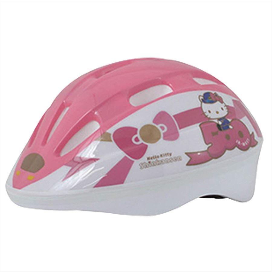 送料無料  カナック企画   4985285095377 SG規 自転車用 500系 ハローキティ新幹線ヘルメット 50-60cm   3歳-8歳 目安  子供用 新幹線 鉄道 キッズ|teito-shopping