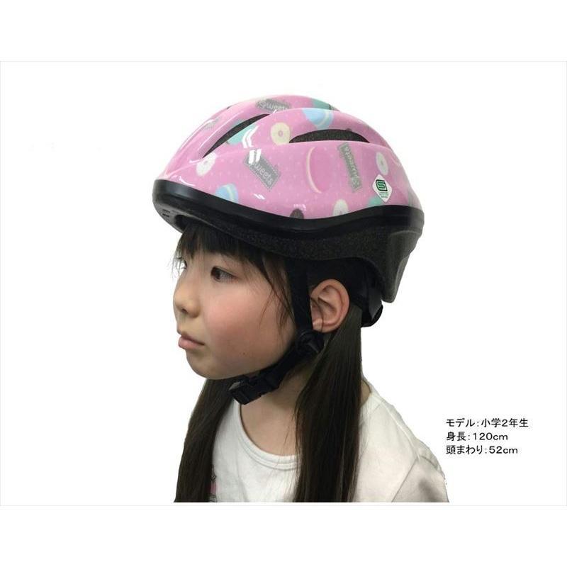 オリンパス ORINPAS    4960965964396 SG規格合格 子供用 自転車用ジュニアヘルメット OMV-10 スイート Mサイズ 52〜56cm ソフトシェル teito-shopping 04