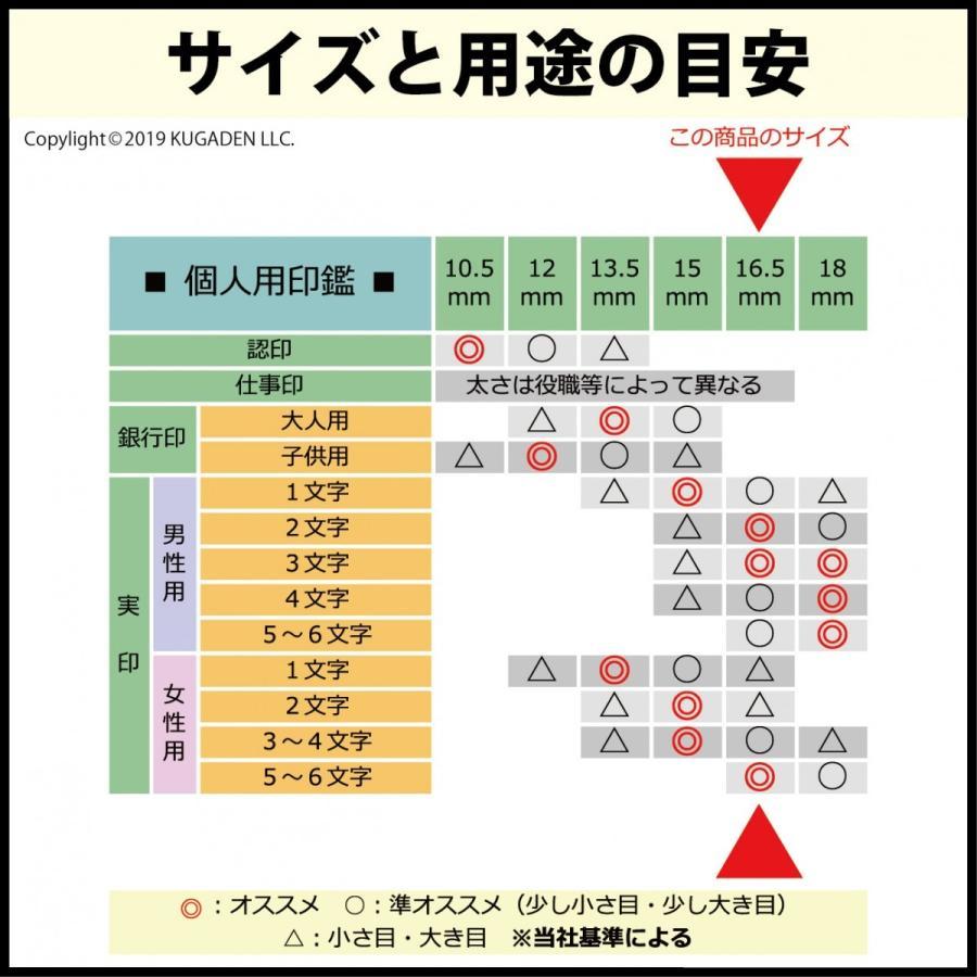 個人印鑑 チタン・ブラスト シルバー16.5mm(男女の実印など) tekakiya 03