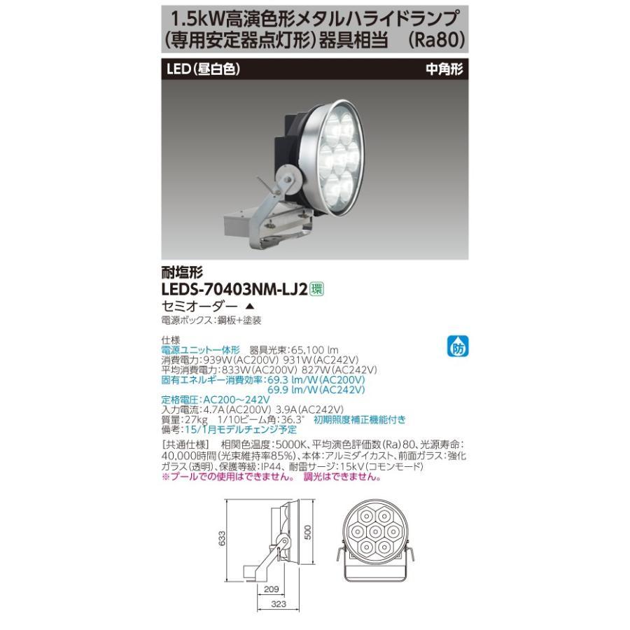 東芝ライテック(TOSHIBA) LEDS-70403NM-LJ2 (LEDS70403NMLJ2)LED投光器