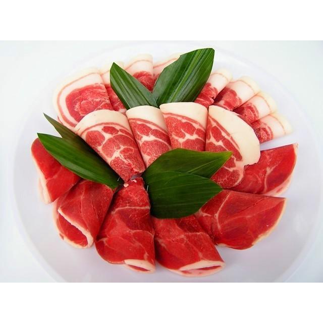【ぼたん鍋】天然ジビエ イノシシ肉 猪肉 国産 島根 500g (250g×2パック) 薄切りスライス1.5〜2.5mm|tekeda|03