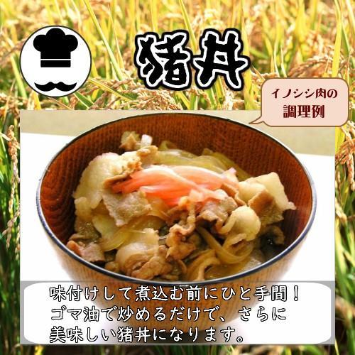 【ぼたん鍋】天然ジビエ イノシシ肉 猪肉 国産 島根 500g (250g×2パック) 薄切りスライス1.5〜2.5mm|tekeda|06