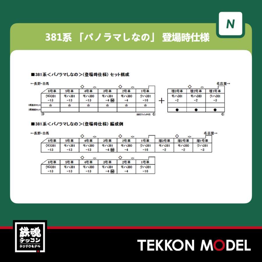 Nゲージ KATO 10-1690 381系 パノラマしなの(登場時仕様)6両基本セット  2021年5月販売 tekkonmodel 02