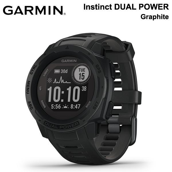 Instinct DUAL POWER Graphite インスティンクト 驚きの値段で 010-02293-31 グラファイト デュアルパワー 格安店 ガーミン GARMIN