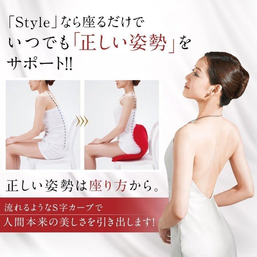 座椅子 椅子 ボディメイクシート スタイル Body Make Seat Style クッション 腰 お尻 姿勢 座布団 MTG 猫背 デスクワーク telemarche28 03