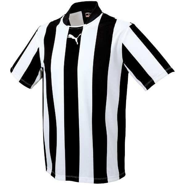 プーマ PUMA ストライプJR半袖ゲームシャツ [カラー:ブラック×ホワイト] [サイズ:140] #903297-05