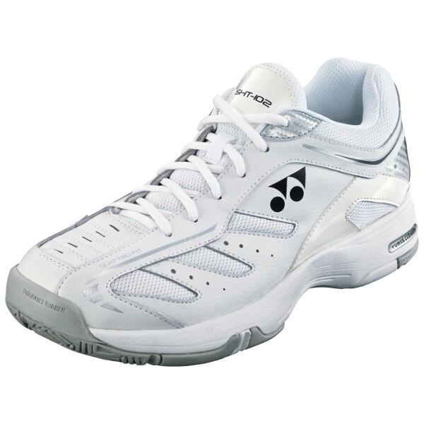 ヨネックス YONEX テニスシューズ パワークッション102(クレー・砂入り人工芝コート用) [カラー:ホワイト] [サイズ:25.0cm] #SHT-102-11