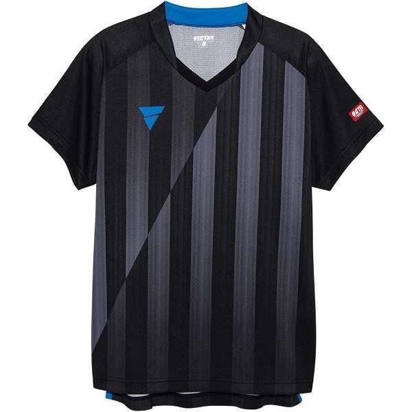 ヴィクタス VICTAS V‐NGS052 ユニセックス ゲームシャツ [サイズ:L] [カラー:ブラック] #031467-0020