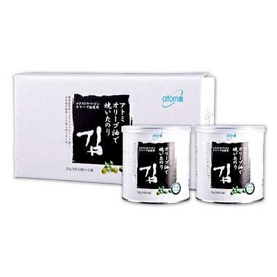 韓国コスメ Atom美 アトミ オリーブ油で焼いたのり(2缶入) ■ナチュラルコスメ【何個買っても送料サイズA(選択肢参照)】