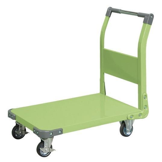 サカエ 特製四輪車 TAN−33【代金引換対象外】【配送時間指定不可】【サカエの大型商品は車上渡しです】