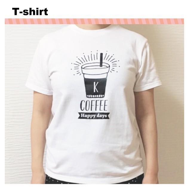 出産祝い 名前入り Tシャツ 半袖  送料無料 親子 ペアルック  カフェ柄|temegane8|07