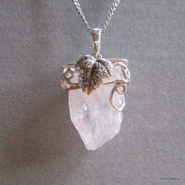 クンツァイト結晶原石シルバーペンダント|ten-ten-sen|03
