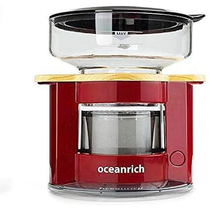 オーシャンリッチ(Oceanrich) 自動ドリップ・コーヒーメーカー レッド UQ-CR8200RD (レッド 単品)|tenbin-do