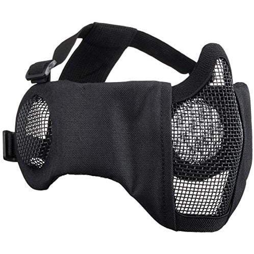 Culture Field サバゲーマスク フェイスマスク サバゲー マスク 耳保護付き (ブラック) (ブラック)|tenbin-do