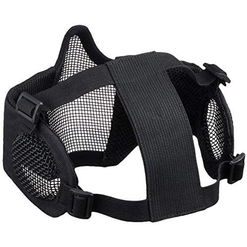 Culture Field サバゲーマスク フェイスマスク サバゲー マスク 耳保護付き (ブラック) (ブラック)|tenbin-do|02