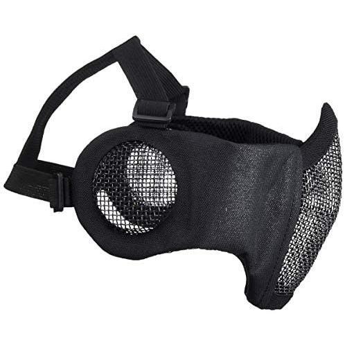 Culture Field サバゲーマスク フェイスマスク サバゲー マスク 耳保護付き (ブラック) (ブラック)|tenbin-do|03