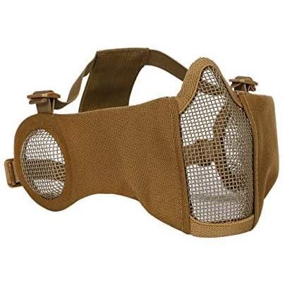 Lumiele 耳を保護する ハーフメッシュマスク メッシュ サバゲー フェイスマスク フェイスガード 曇らない (タン) (タン) tenbin-do