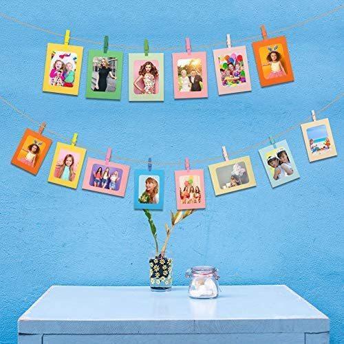 girldate カラフル ペーパーフォトフレーム 写真ガーランド 写真フレーム 10種類 写真整理 写真飾り 壁掛け ピクチャーフレーム 6インチ|tenbin-do|08