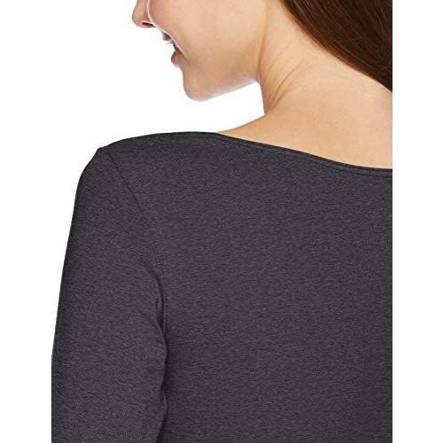 [ベルメゾン] あったか インナー ホットコット 綿混 長袖 C14793 レディース (杢チャコール L)|tenbin-do|04