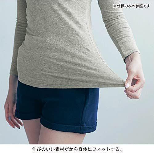[ベルメゾン] あったか インナー ホットコット 綿混 長袖 C14793 レディース (杢チャコール L)|tenbin-do|08