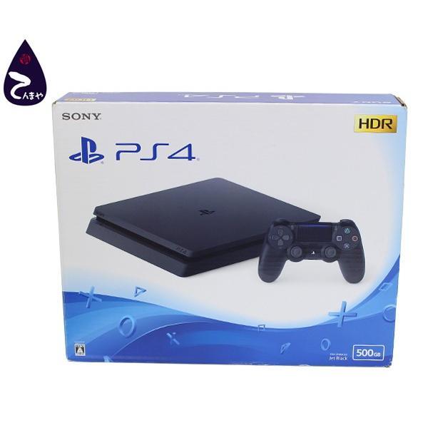 ソニー(SONY) プレイステーション4 PS4 HDD 500GB ゲーム機 ジェットブラック USBケーブル欠品 (CUH-2100AB01)