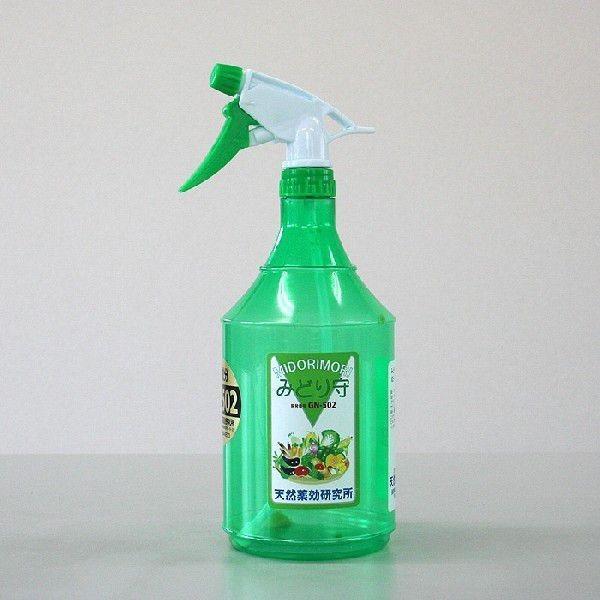 みどり守 スプレー1L分 ニーム主原料としニームの力を数十倍強化した環境改良材 乳化剤いらず水で希釈するだけ。お手軽、新技術 特許第5973922|tennen-yakkou