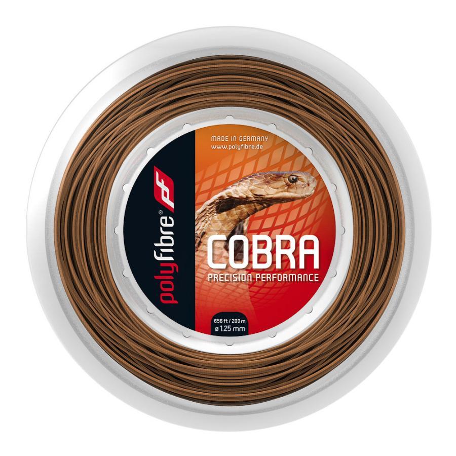 ポリファイバー コブラ (1.20/1.25/1.30mm) 200Mロール 硬式テニス ポリエステル ガット Polyfibre COBRA (1.20/1.25/1.30mm) 200m roll strings