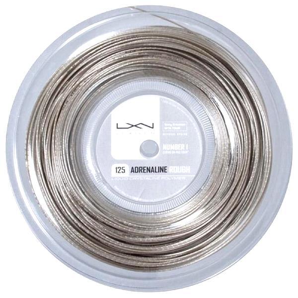 ルキシロン アドレナリン ラフ (1.25mm) 200Mロール 硬式テニス ポリエステル ガット(Luxilon Adrenaline Rough 200m String Reel)