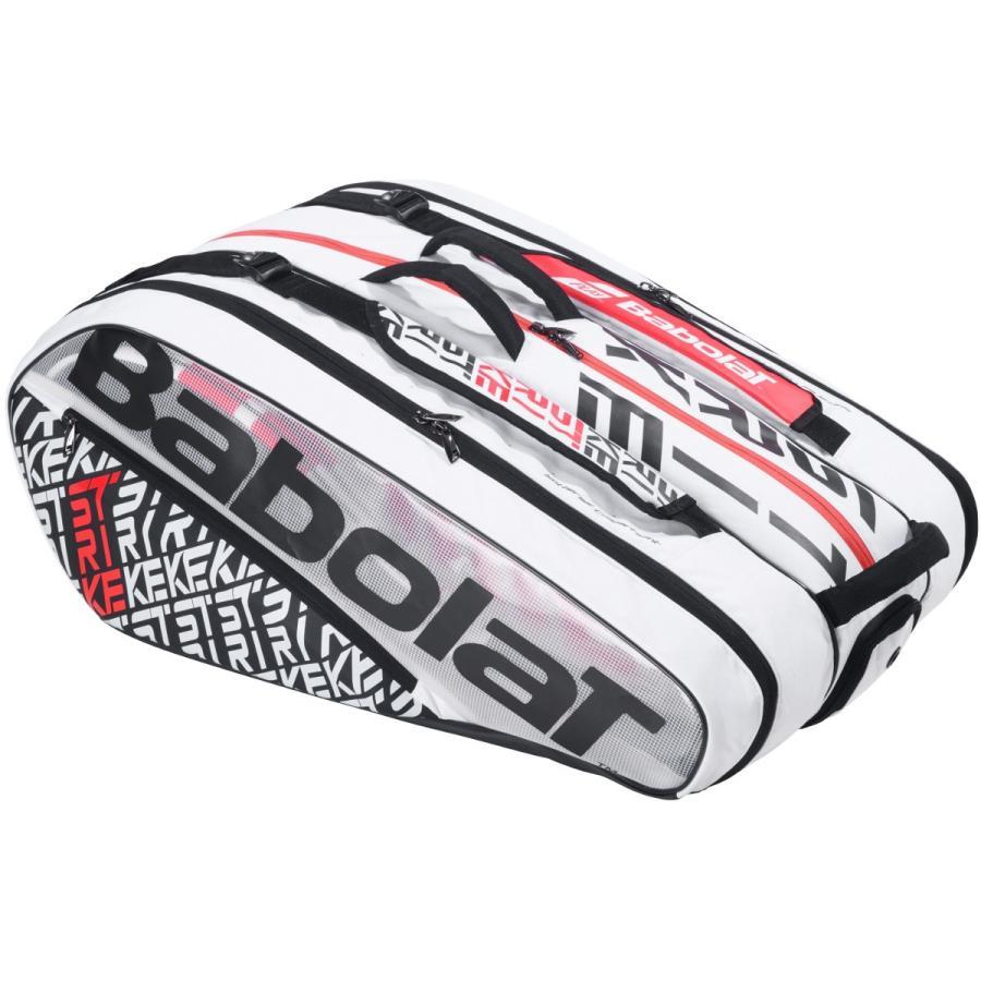 【12本収納】2019 バボラ ピュアストライク ラケットバッグ 12本入 751201-149 ( 2019 Babolat Pure Strike Racket Holder x 12 ) (ホワイト/レッド)