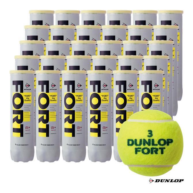 豪華で新しい ダンロップ DUNLOP テニスボール ダンロップ FORT(フォート)4球入 DUNLOP 1箱(30缶/120球), 琥珀屋:f5c51d96 --- airmodconsu.dominiotemporario.com