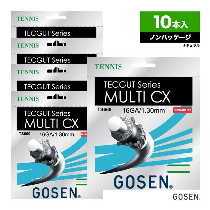ゴーセン(GOSEN) ボックスガット テックガット(TECGUT) マルチCX(MULTI CX) 16 130 ナチュラル 単張りガット(10本入) TS660