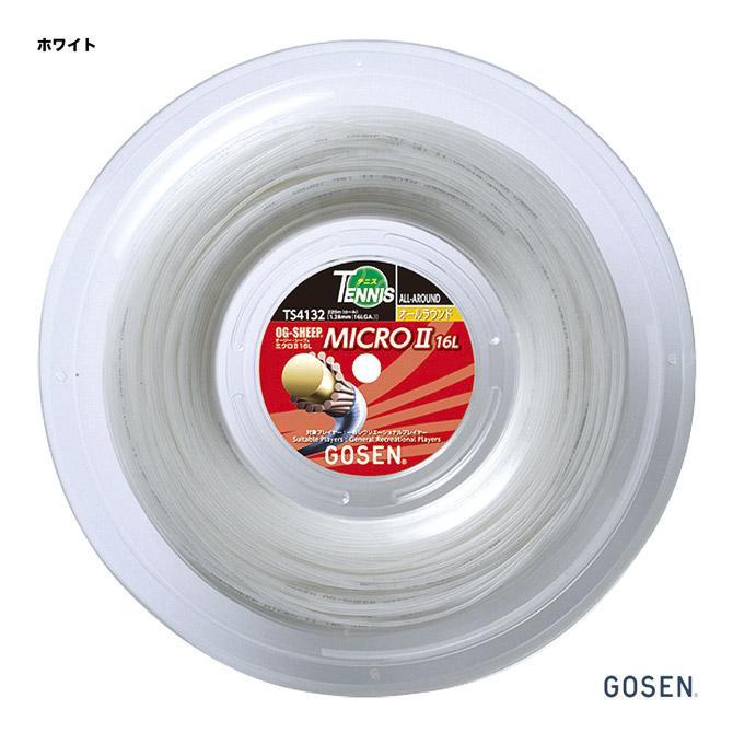 ゴーセン(GOSEN) テニスガット ロール オージー・シープ(OG-SHEEP) ミクロ2(MICRO) 16L 128 ホワイト TS4132