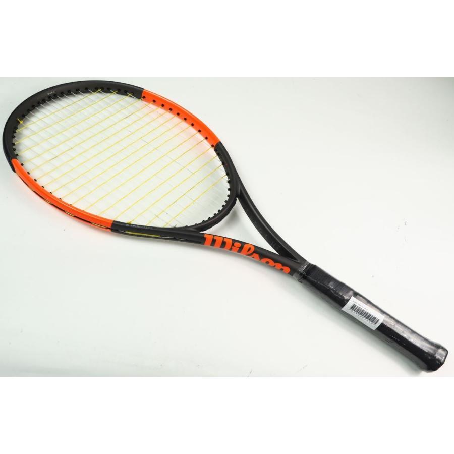中古 テニスラケット WILSON BURN 100S CV 2017【スマートテニスセンサー対応】 (G2)
