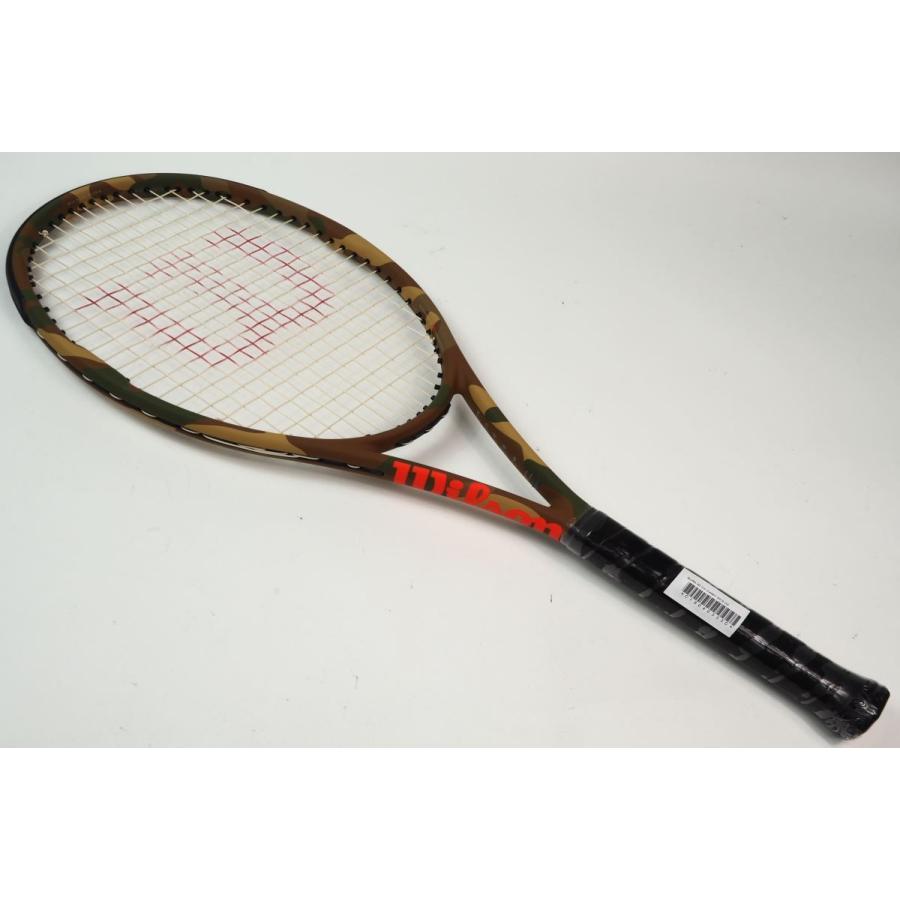 中古 テニスラケット WILSON BURN 95 CV CAMO 2018【スマートテニスセンサー対応】【日本限定】 (G2)