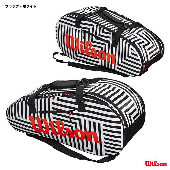 ウイルソン(Wilson) テニスバッグ スーパー ツアー 2 COMP LARGE BOLD(ブラック・ホワイト) WR8001501001