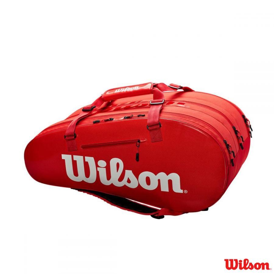 ウィルソン(Wilson)ラケットバッグ15本用 SUPER TOUR 3 COMP RED